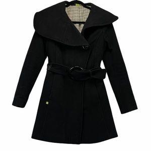 Soia & Kyo Black Wool Pea Coat XS